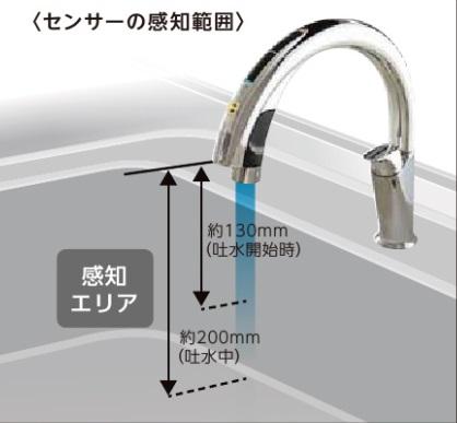 ハンズフリー水栓 SF-NA491S-JG5 LIXIL製