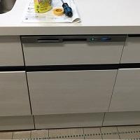 食洗機新設スライドオープン