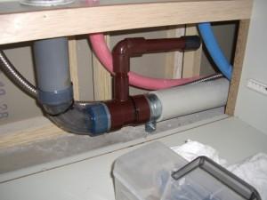 マンションビルトイン食洗機 後付け工事 排水配管