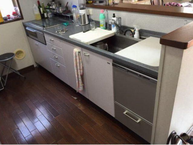 へーベルハウス ヤマハ トップオープン食洗機①