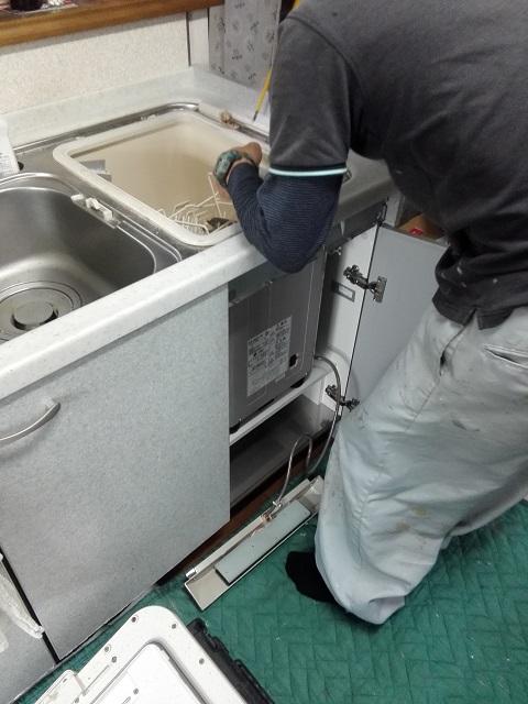 NP45MS7S パナソニック食洗機 取替え①