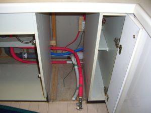 30センチ幅 パナソニックビルトイン食器洗い乾燥機 配管工事 交換 NP-45MD7S