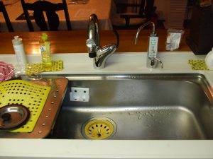 ウッドワンキッチン 浄水器交換 リフォーム