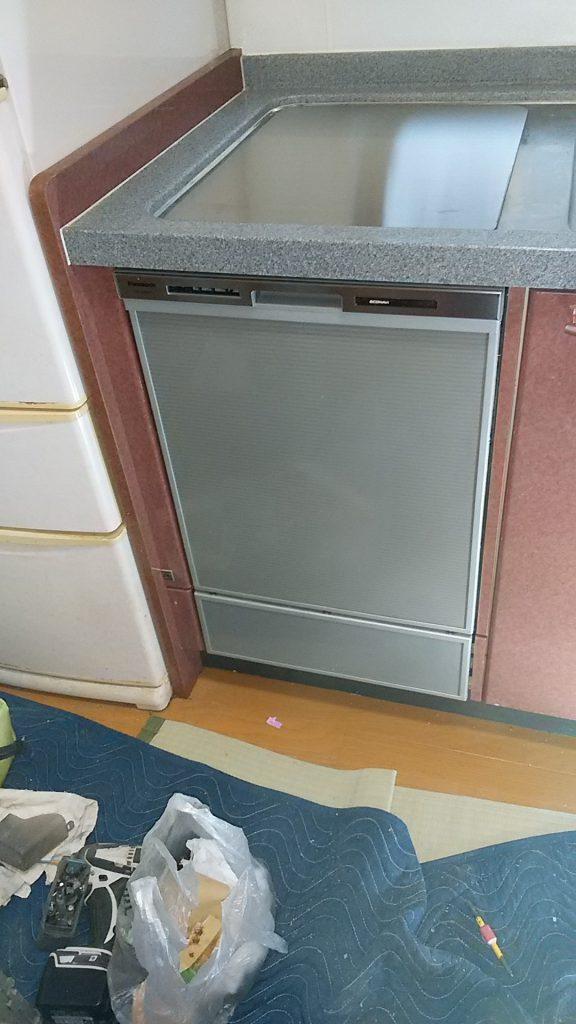 パナソニック食洗機 交換 NP-45MD7S⑥ 食洗機,トップオープン,取り付け,上開き,買い換え,交換,取り替え,リフォーム,ビルトイン,食洗機交換工事,取り付け,パナソニック