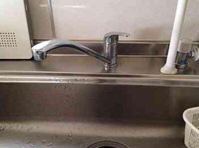 大阪府茨木市蔵垣内 LIXIL キッチン水栓①