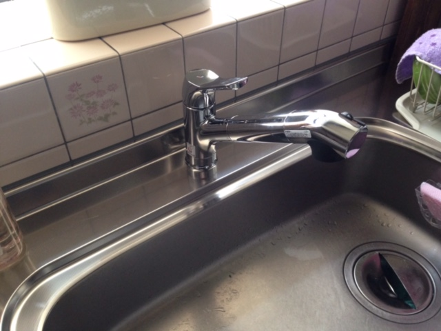 LIXILオールインワン浄水栓 交換 JFAD466SYXJG5K②