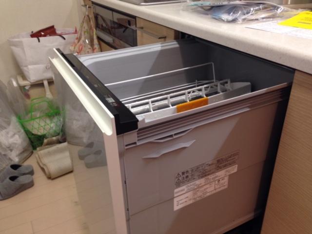 パナソニック食洗機 スライドオープン食洗機交換 NP-45KE7WJG③