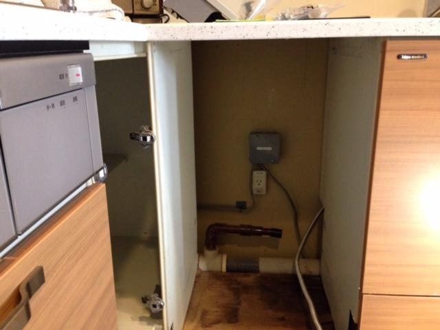 パナソニック食洗機 スライドオープン食洗機交換 NP-45MD7S③