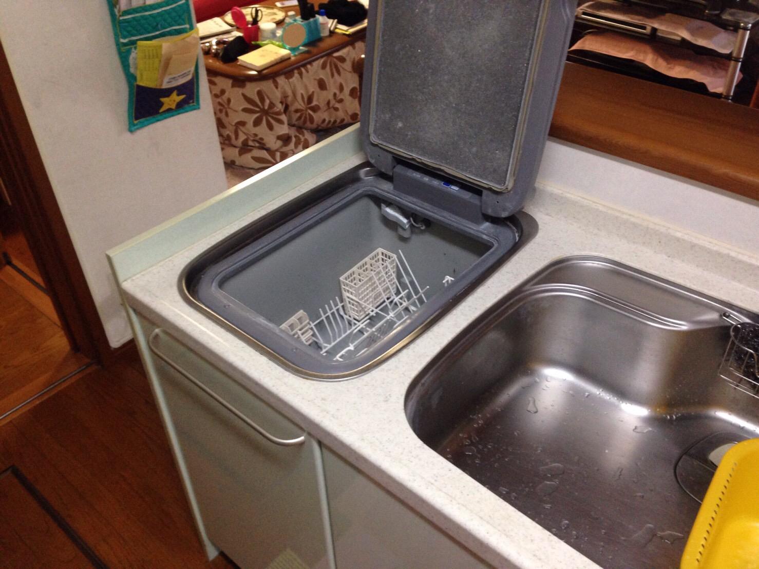 パナソニック食洗機 トップオープン食洗機取替え NP-45MS7S②