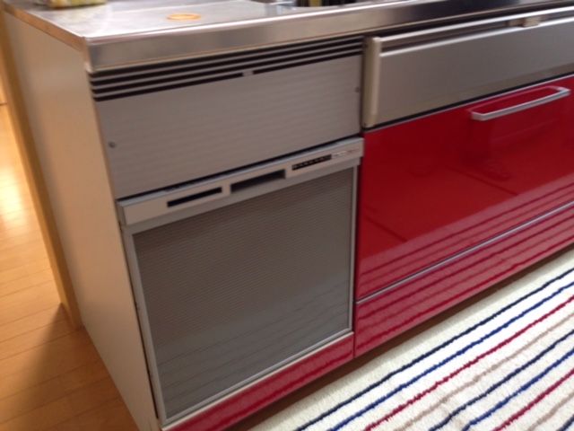 パナソニック食洗機 スライドオープン食洗機取付け NP-45RS7S③