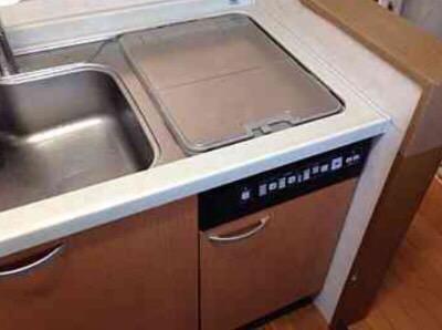 東芝食洗機 トップオープン食洗機取替え DW-B45CTV/M①