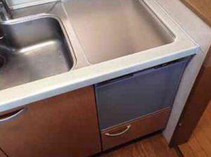 松下電工ナショナルキッチン 東芝食洗機 トップオープン食洗機取替え DW-B45CTV/M③
