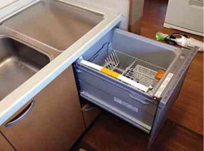 東芝食洗機 トップオープン食洗機取替え DW-B45CTV/M④