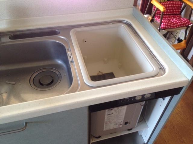 三菱電機食洗機 トップオープン食洗機取替え EW-CB51-YH②