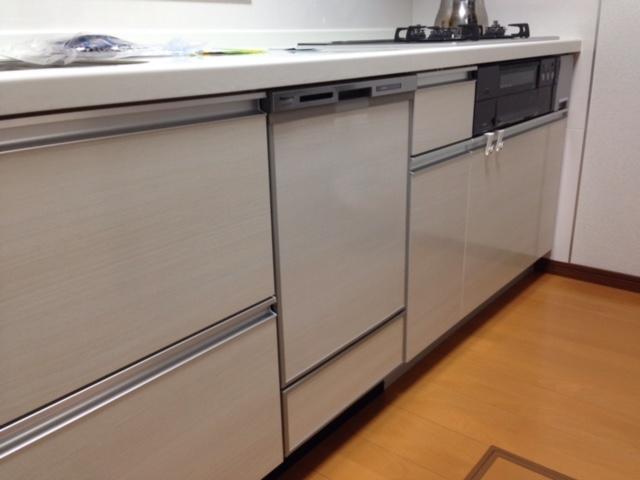 パナソニック食洗機 スライドオープン食洗機新設 NP-45MD7S①