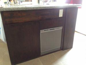 オーダーキッチン パナソニック食洗機 スライドオープン食洗機新設 NP-45MS7S③