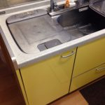 三菱電機食洗機 トップオープン食洗機取替え MISW-4521②