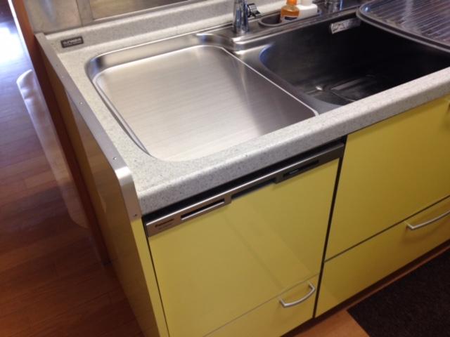 三菱電機食洗機 トップオープン食洗機取替え MISW-4521④