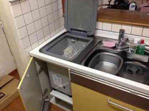 EW-CB57MK食洗機 スライドオープン食洗機交換 NP-45MS7W②