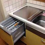 ビルトイン食洗機 EW-CB57MK食洗機 スライドオープン食洗機交換 NP-45MS7W⑤