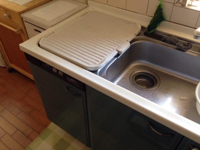 パナソニック食洗機 スライドミドル食洗機新設 NP-45MS7S①