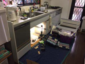 パナソニック食洗機 スライドオープン食洗機新設 NP-45MS7S⑨