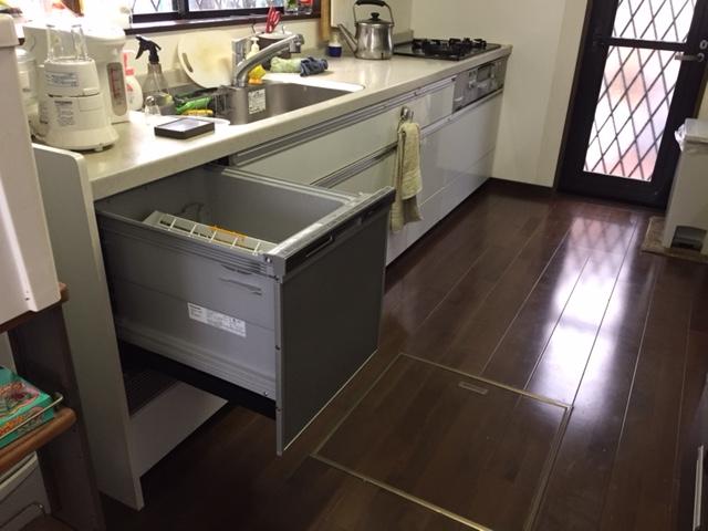 パナソニック食洗機 スライドオープン食洗機新設 NP-45MS7S⑪