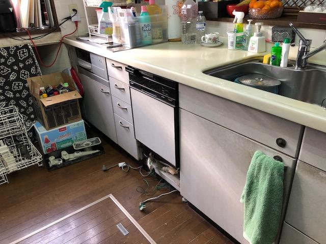 激安パナソニック食洗機 スライド食洗機交換 NP-45RD7S③