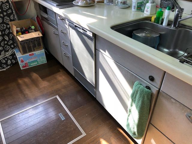 激安パナソニック食洗機 スライド食洗機交換 NP-45RD7S③④