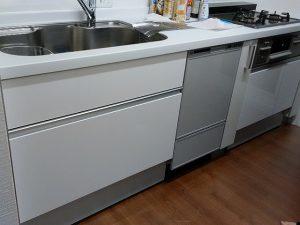 神奈川県 キッチンリフォーム リンナイ製食洗機後付け ハウステック RSW-F402C-SV⑤