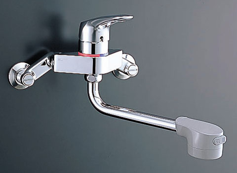 キッチン水栓 シャワー付タイプ 壁付け
