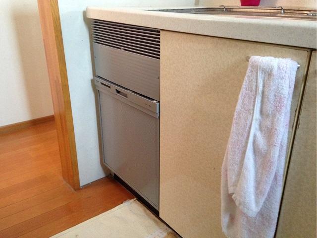 永大キッチン,新設食洗機工事,スライド食洗機,RKW-404A-SV②