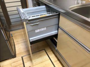 クリナップキッチン食洗機後付け新設工事安いパナソニック NP-45MS7W