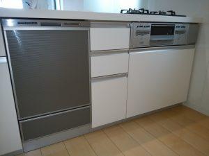 リクシルシステムキッチン 食洗機後付け リフォーム工事