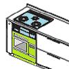 永大産業キッチン ガスオーブンからIH 収納