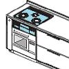 ウッドワンキッチン ガスコンロ交換 オーブンそのままリフォーム