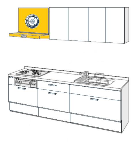 キッチン シロッコファンフード 取替え交換工事