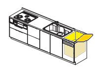 三菱製トップオープンタイプ キッチン