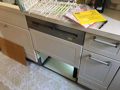 スライド食洗機,交換,入替工事,パナソニック製,NP-P60V1WSAA,NP-P60V1WSPS