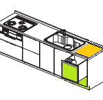 INAXキッチン トップオープン食洗機 交換リフォーム