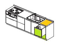 ヤマハトップオープン食器洗浄機リフォーム 完成イラスト