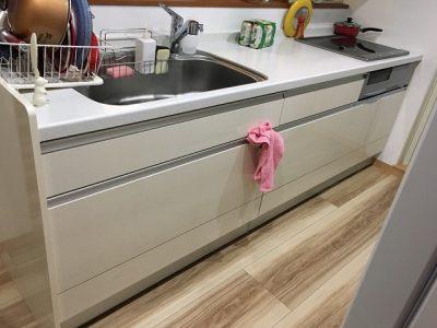 新設食洗機工事,リンナイ,フロントオープン,RKW-F402C-B,