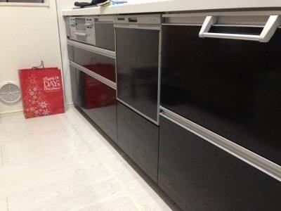 新設食洗機工事,リンナイ,RKW-404A-SV,シルバー