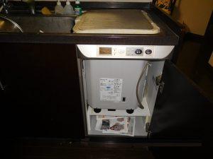 大分県宇佐市 ヤマハキッチン トップオープン食洗機 取替え交換