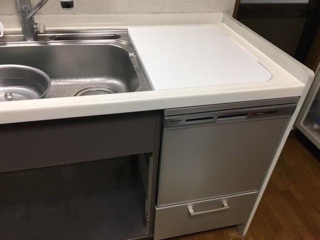 食洗機,トップオープン,取り付け,上開き,買い換え,交換,取り替え,リフォーム,ビルトイン,食洗機交換工事,取り付け,NP-45MS8S,パナソニック
