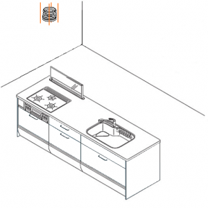 キッチンセンターレンジフード 取替え交換方法