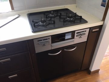 ガスコンロ オーブン撤去 ガスコンロ交換 取り替え システムキッチン ビルトイン機器