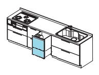 日立ダブルオープン食器洗浄機 取替え交換 工事 ①