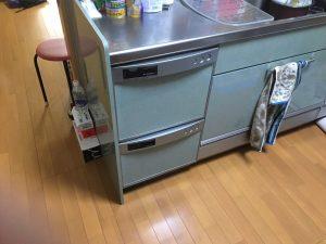 CWPH-45WAS クリナップ 日立ダブルオープン食洗機取替え交換工事