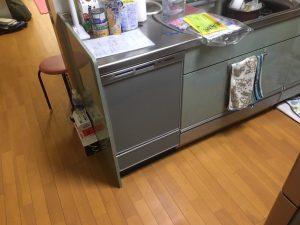クリナップ 日立 CWPH-45WAS ダブルオープン食洗機取替え交換工事 NP
